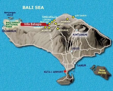 Villa Bahagia location map